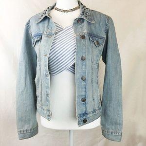 Rock & Republic | Distressed Studded Jean Jacket
